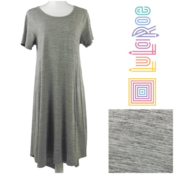 12cb7b35296e1 LuLaRoe Dresses & Skirts - LULAROE | Gray Carly Short Sleeve Swing Dress